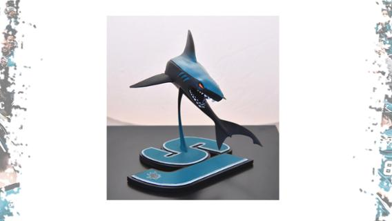 March 19 - Stealth Leaping Shark Sculpture Pack | San Jose Sharks